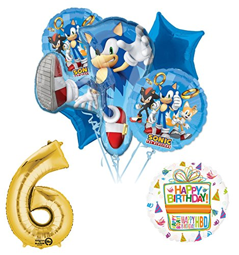 Mayflower Products Sonic The Hedgehog 6th Birthday Party Supplies Balloon Decorations