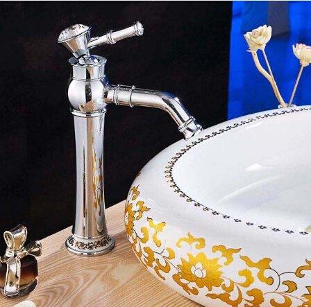 5151buyworld hochwertig Wasserhahn mit Chrom-Badezimmer-Wasserhahn mit Hebel, Waschbecken Wasserhahn Mixer mit coldfor Badezimmer, Küche und Zuhause gaden