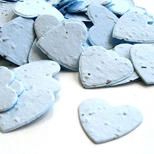 Heart Shaped Plantable Seed Confetti (Blue) - 350 pieces/bag