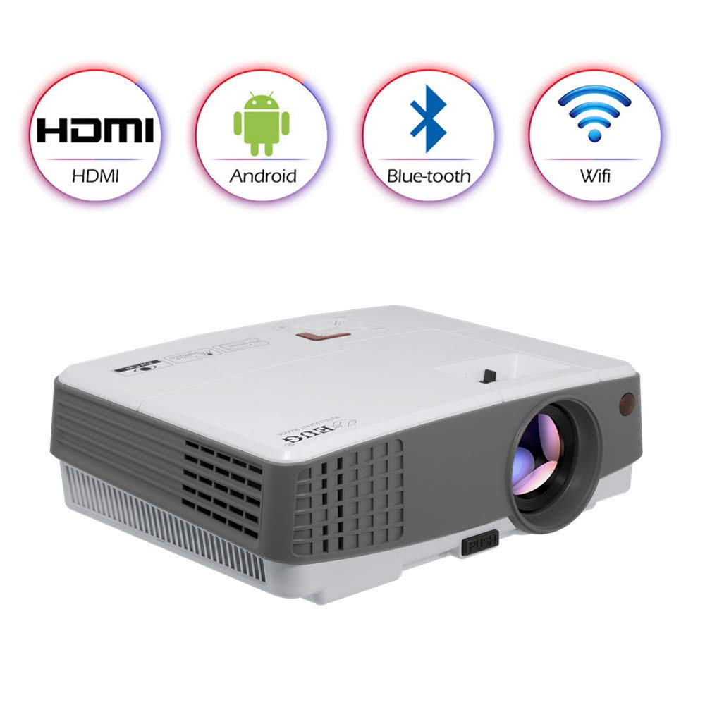 d2e398f691db79 HD Wireless Bluetooth Projector Portable for iPhone Android Mac,WiFi  Airplay HDMI USB VGA AV Built-in Speakers,LED LCD Android Video Projector  2600 Lumen ...