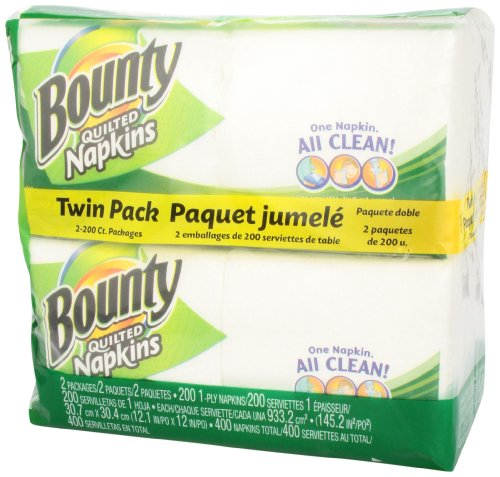 Large Product Image of Bounty Paper Napkins, White, 400 ct