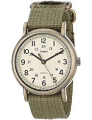 Timex Unisex T2N894 Weekender Olive Green Nylon Strap Watch