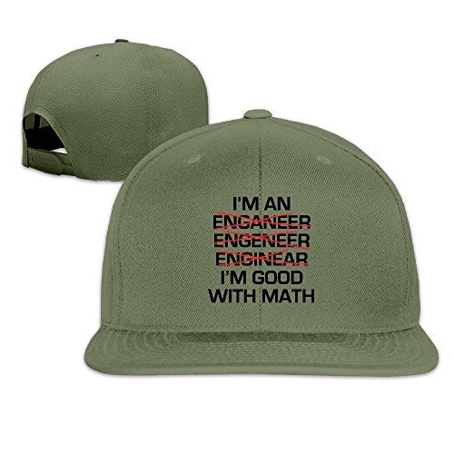 LINNA Custom Unisex-Adult I'M GOOD WITH MATH Snapback Hip Hop Visor Cap - Hat Vs Visor Running