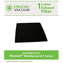1 Hoover Windtunnel T-Series Rewind Upright Vacuum Carbon Active Exhaust Filter, Compare to Part # 902404001, Designed and Engineered by Crucial Vacuum