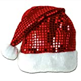 Beistle 20730 Sequin-Sheen Santa Hat, Red/White