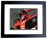 Michael Schumacher Signed - Autographed Formula One Driver 4x6 inch Photo - BLACK CUSTOM FRAME - Guaranteed to pass or JSA - PSA/DNA Certified by Real Deal Memorabilia
