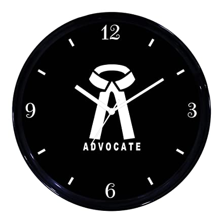 Huppme Lawyer Advocate Wall Clock Home Bedroom Living Room Kitchen