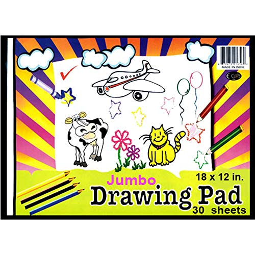 Drawing Pad, 12'' x 18'', 30 Sheets, Case Pack of 48, Ideal for Bulk Buyers by AUKSales (Image #1)