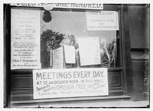 Photo: Campaign Signs,Tammany,Otto Bannard,Vote For,Meetings Everyday,Bain News Service by Infinite Photographs