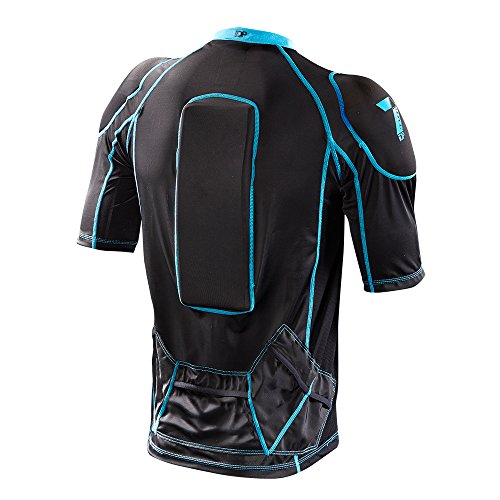 Flex Rider Body Protector - 7iDP Flex Body Protective Gear, Black, Large