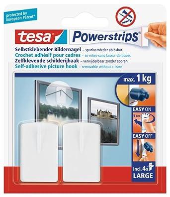 Tesa Powerstrips Bildernagel Selbstklebend Weiß 2 Stück Amazon