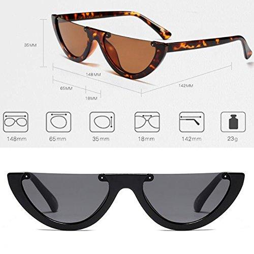 C1 monture soleil de Mod lunettes Mod classique Cat femmes Huicai Style Eye pour demi hommes q1tSww6