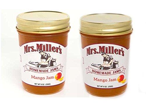 Mrs. Millers Mango Jam (Amish Made) ~ 2 / 8 Oz. Jars - Mango Jelly