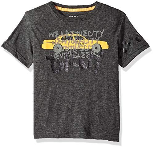 DKNY Boys Short Sleeve Crew Neck Taxi T-Shirt