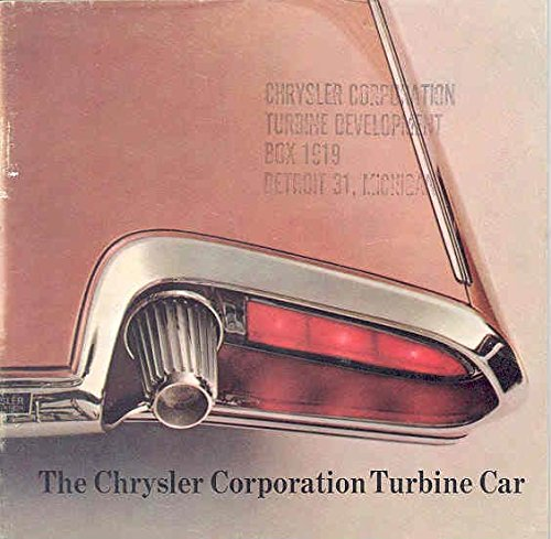 Chrysler Brochure (1963 Chrysler Turbine Experimental Concept Brochure)