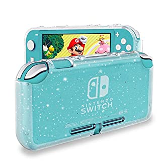 DLseego Protective Case Compatible with Nintendo Switch Lite 2019, Liquid Crystal Glitter Bling Soft TPU Cover with Shock-Absorption and Anti-Scratch Design Protective Case - Crystal Glitter