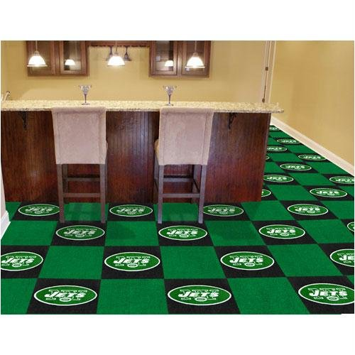 New York Jets NFL Team Logo Carpet Tiles by Fanmats