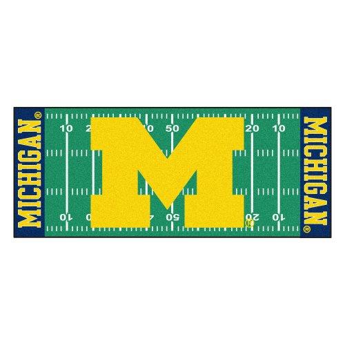- FANMATS NCAA University of Michigan Wolverines Nylon Face Football Field Runner