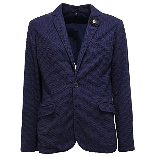 Cotone 9731t Cotton Men Jacket Blu Uomo Jeans Blue Giacca Armani fUUqIr