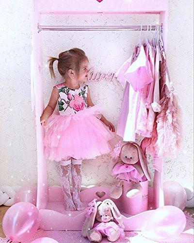 Del Da Hotwon Abito Senza Vestiti Della Di Pizzo Abito Top Maniche Sera Rosa Bianca Gonna Floreale Abiti Rosa Neonata Bambino X5qXrn