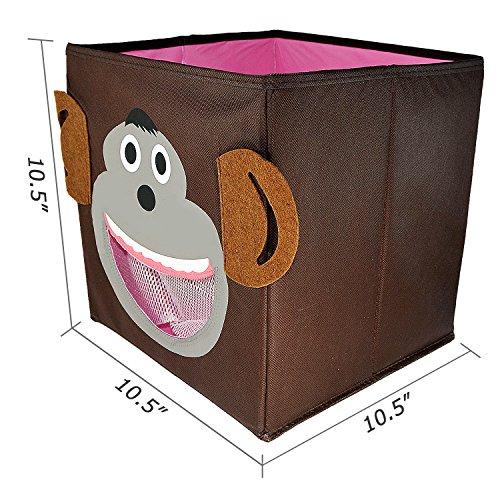Cute Animal Collapsible Toy Storage Organizer Folding: KSEVEN Animal Theme Children Storage Bin, Collapsible