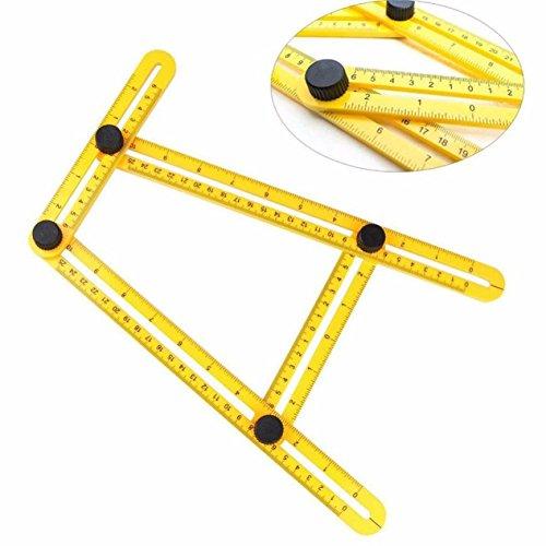 FunnyToday365 Folding Plastic Ruler Metric Scale Multifunctional Angle Model Angle Ruler Plastic Measuring Tool Rule