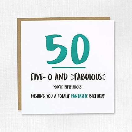 Cwaak - Tarjeta de felicitación unisex para 50 cumpleaños ...