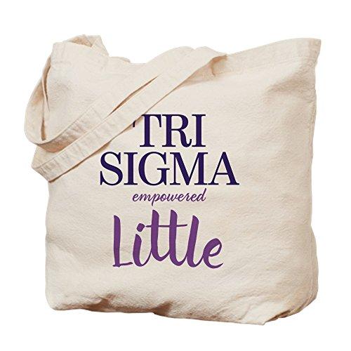 CafePress–Sigma Sigma Sigma Tri Sigma Big–Gamuza de bolsa de lona bolsa, bolsa de la compra