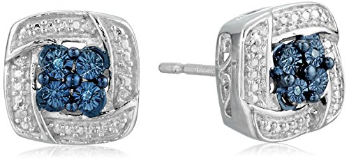 sterling-silver-blue-and-white-diamond-accent-cushion-shape-stud-earrings