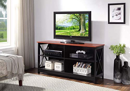 Convenience Concepts 203055CH Oxford TV Stand, Cherry/Black