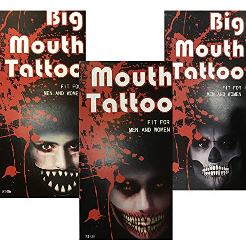 Temporary Big mouth Scar Sticker, The Best Tattoo