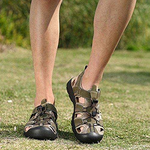 Da Uomo Estiva Sandali In Flip Size Flop Da Arrampicata Escursione Da Water Da Green Da Slipper Spiaggia Pantofole Large Scarpe Trekking Shoe Pelle tqEtxd0