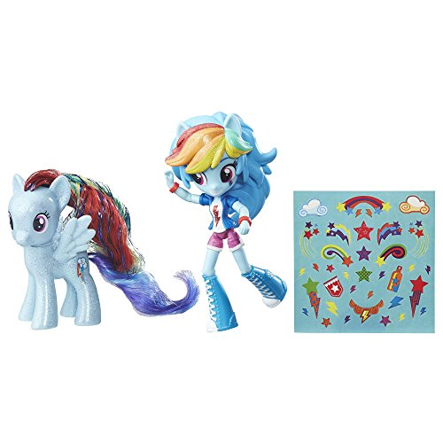 My Little Pony Rainbow Dash Toys - Glitter Pony & Equestria Girls Doll, Kids Ages 5 and Up -