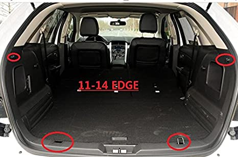 Cargo Cover Retractable For 2015-2017 Ford Edge Black By Kaungka There is no gap between the back seats and the cover