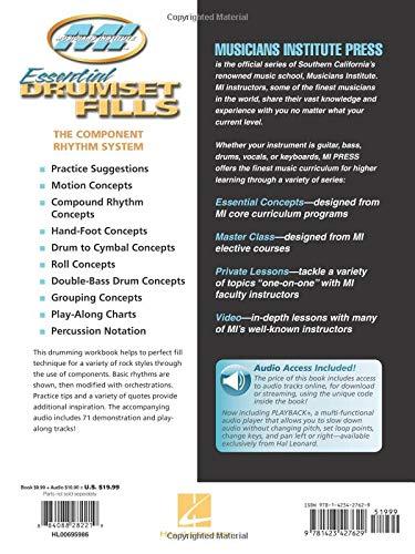Essential Drumset Fills: Master Class Series Bk/Online Audio
