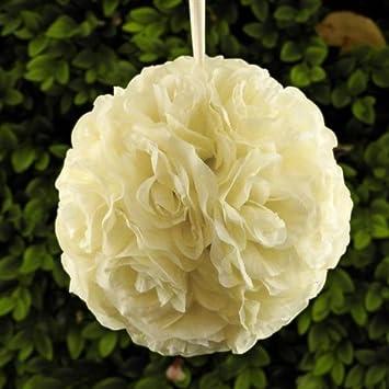 Amazoncom Homeford Flower Kissing Balls Pomander Pom Pom Wedding