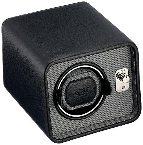 WOLF 4524029 Windsor Single Watch Winder, Black
