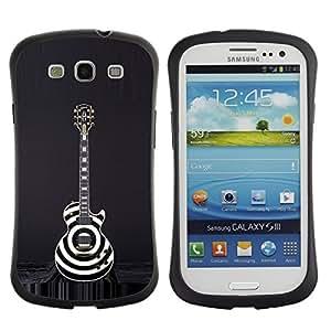 "Hypernova Slim Fit Dual Barniz Protector Caso Case Funda Para SAMSUNG Galaxy S3 III / i9300 / i747 [Negro Blanco Arte Música rock""]"