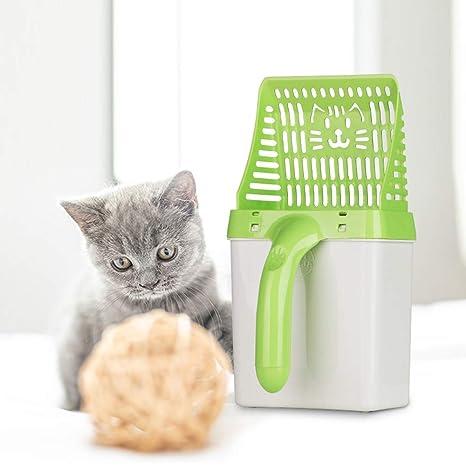 VICTOREM Pala de Arena para Gatos - Cedazo con Pala Profunda, Neater Gato Litter Scoop