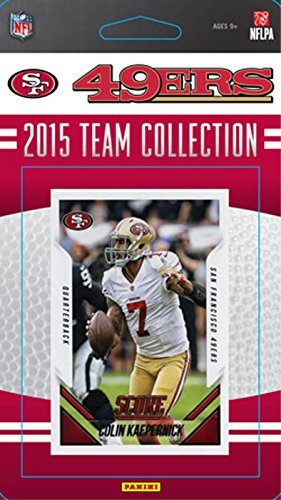 San Francisco 49ers 2015 Score Factory Sealed NFL Football Complete Mint 17 Card Team Set with Colin Kaepernick, Rookie Cards Plus