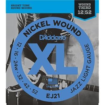 d addario xl nickel wound electric guitar strings jazz light gauge round wound. Black Bedroom Furniture Sets. Home Design Ideas
