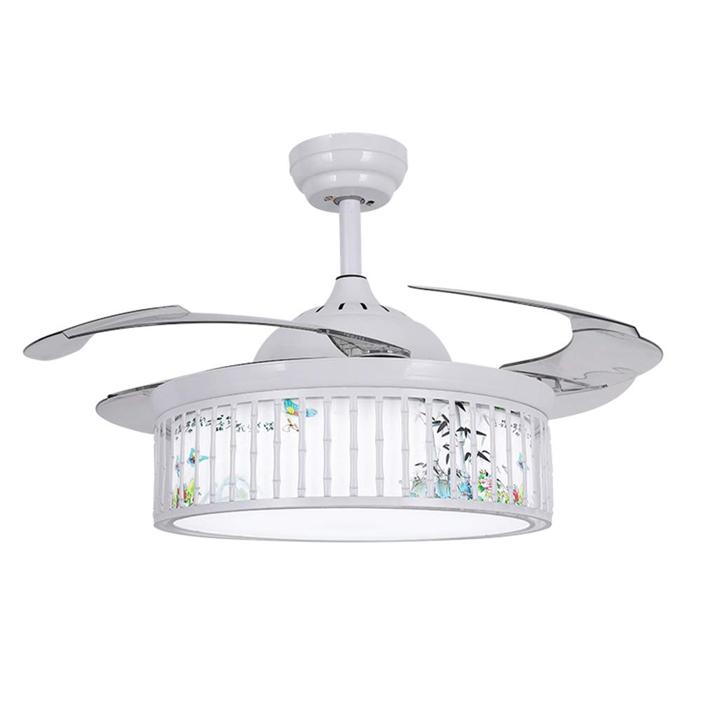 Tiptonlight modern fanshion style lighting fixtures ceiling fan white ceiling fan remote retractable ceiling fans with lights 65w circular ceiling fan