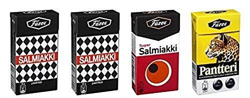 4 Boxes x 38g of Fazer Super Salmiakki Mix - Original - Finn