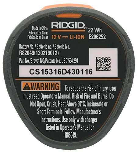 Ridgid AC82049 Genuine OEM Compact Hyper Lithium Ion 2.0 Amp Hour 12V Battery by Ridgid (Image #1)