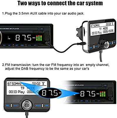 Wonsidary Auto DAB Digital Radio Adapter mit FM Transmitter