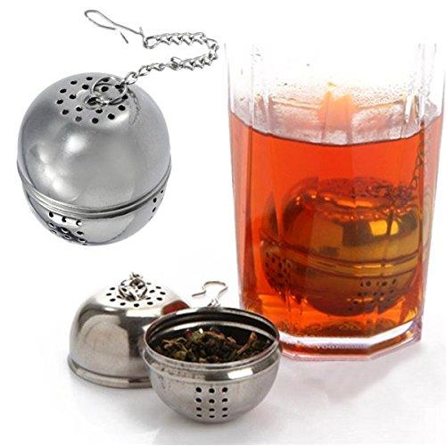 DIYラウンドステンレススチール茶フィルタTea Strainer   B06XJ46X78