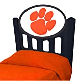 Clemson Tigers Stained Headboard (Twin Size)