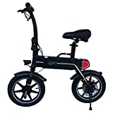 iFreego Mini Adult Electric Bike Bicycle Lightweight Compact Commuter no Pedals (Black)