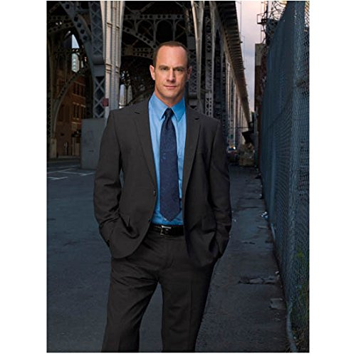 Law & Order: Special Victims Unit 8x10 Photo Christopher Meloni Grey Suit Bright Blue Shirt Hands in Pockets kn