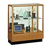 Counter Height Classic Display Case with Mirror Backing Dimensions: 36''W x 14''D x 40''H Weight: 116 lbs Danish Walnut/Mirror Backing